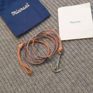 Miansai anchor bracelet